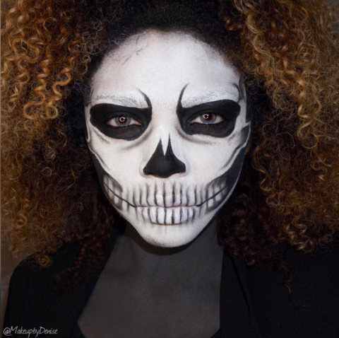 A koponya arca halloween smink ötletek - halloweenkor.hu