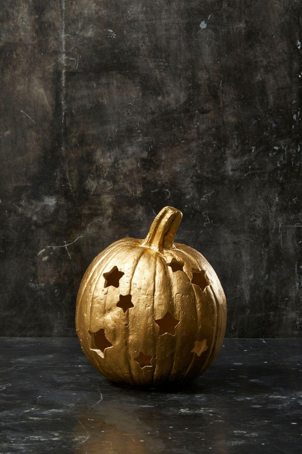Aranycsillagos halloweeni sütőtök