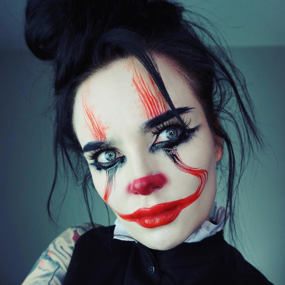 Az őrült bohóc - halloween smink ötletek