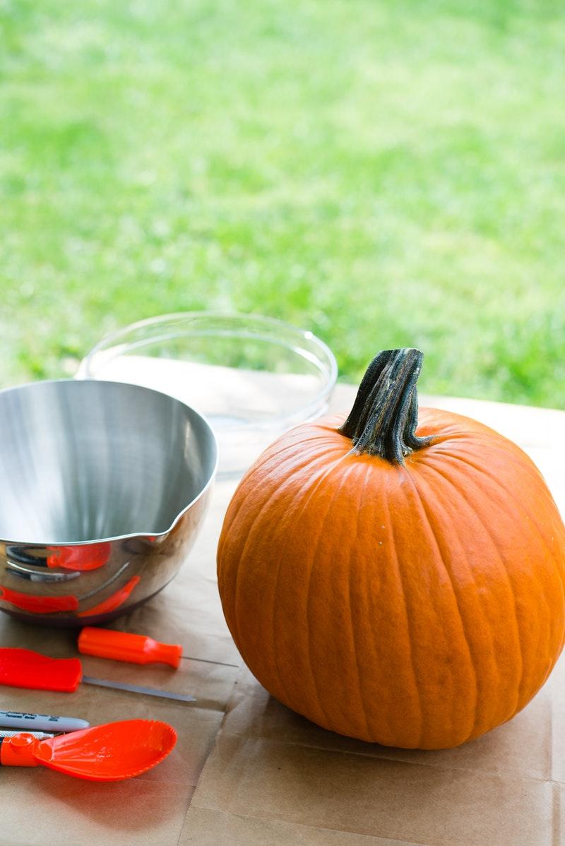 Halloween tök készítés