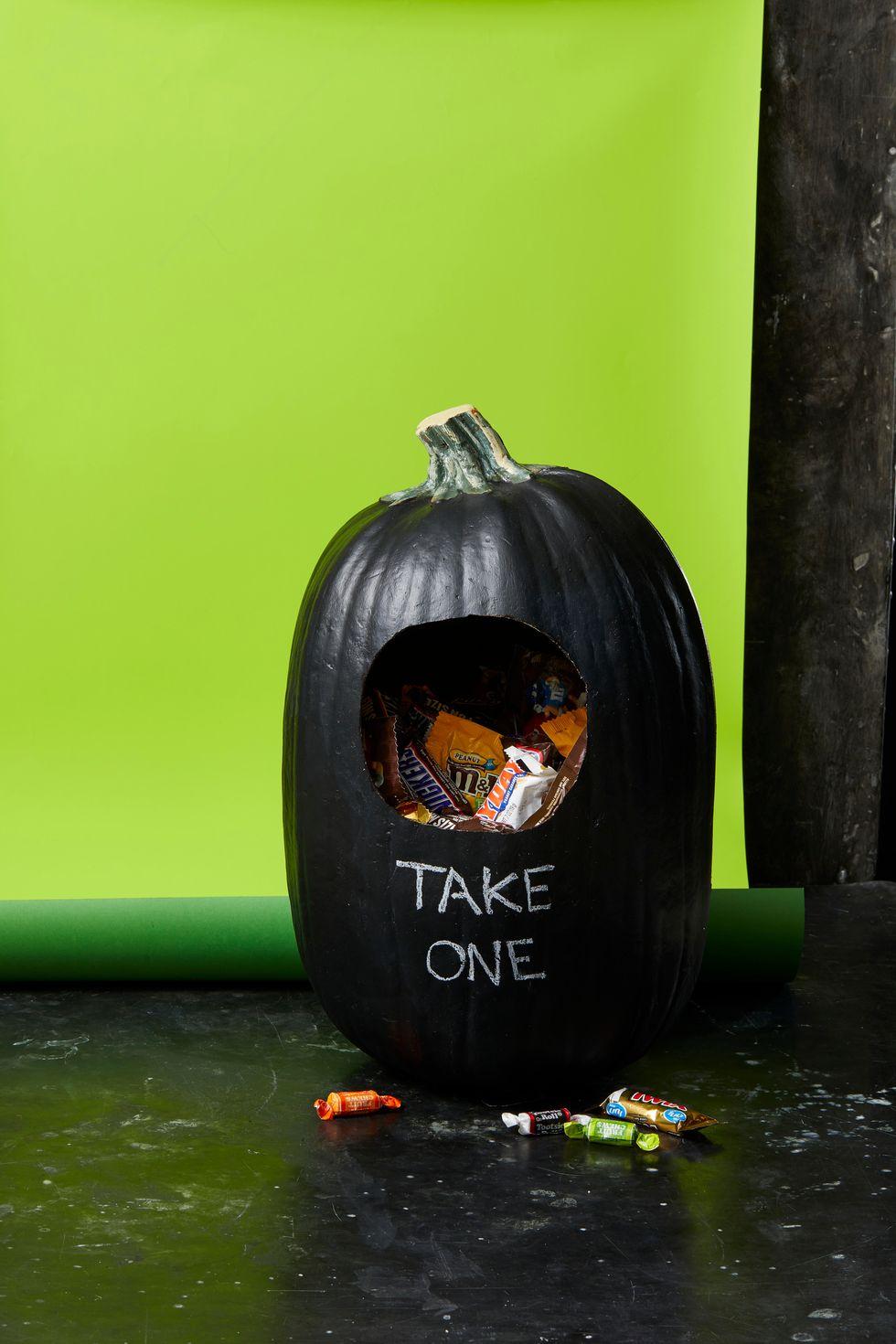 Halloweeni tök cukorka tartó