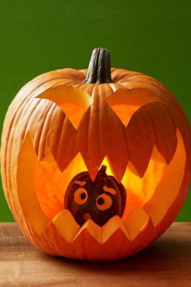 Kannibál halloween-i tökfej