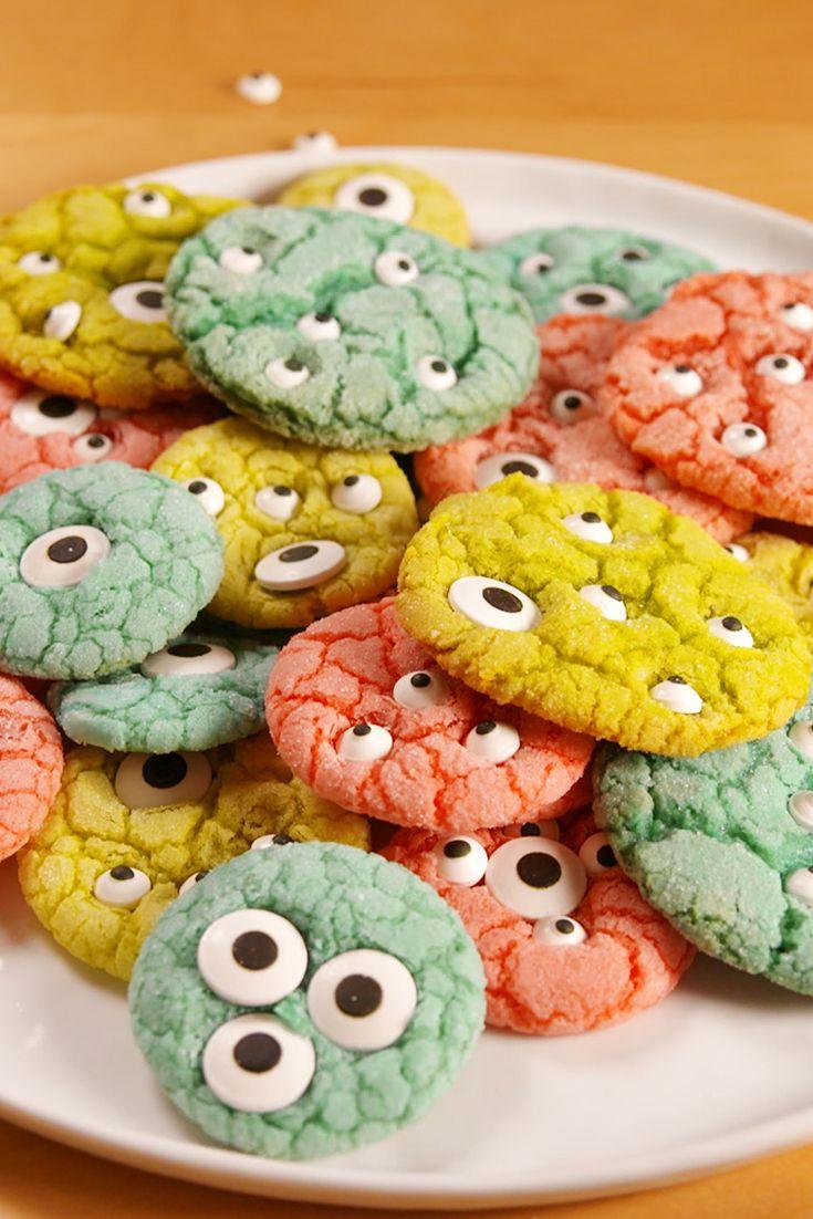 Monster Cookies halloween süti