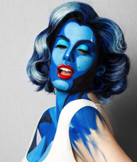 Pop-art Marilyn halloween smink ötletek - halloweenkor.hu