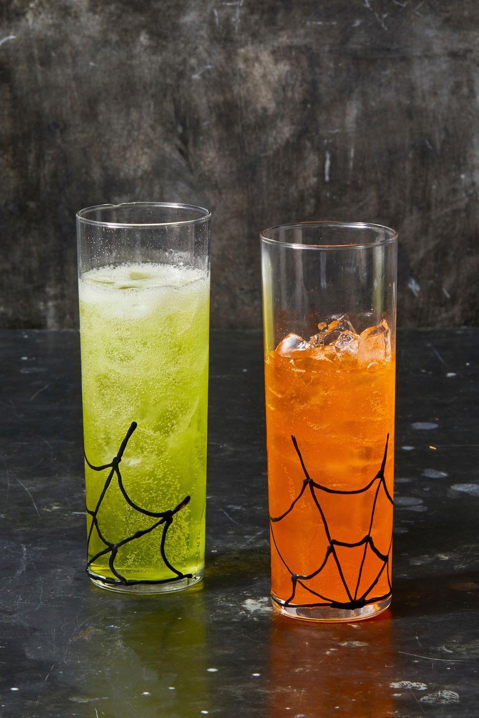 Pókhálós poharak halloween dekoráció